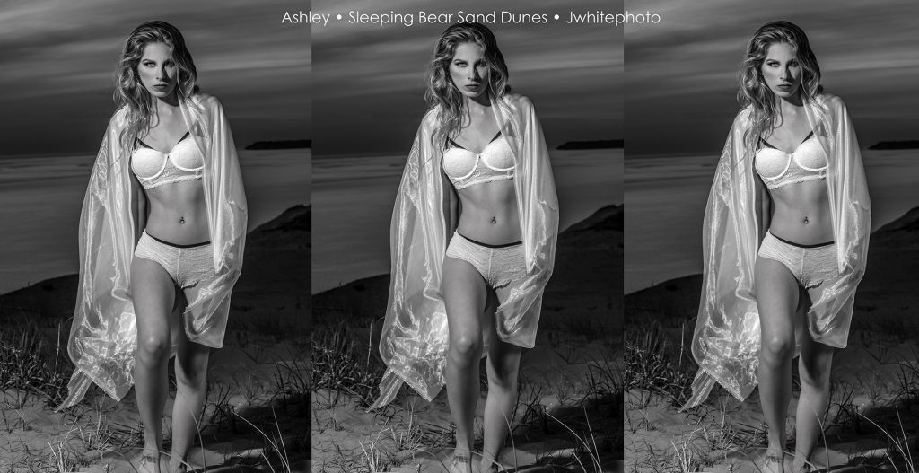 Metro Detroit Fashion Photographer Jeff White photographs Ashley in the Sleeping Bear Sand Dunes