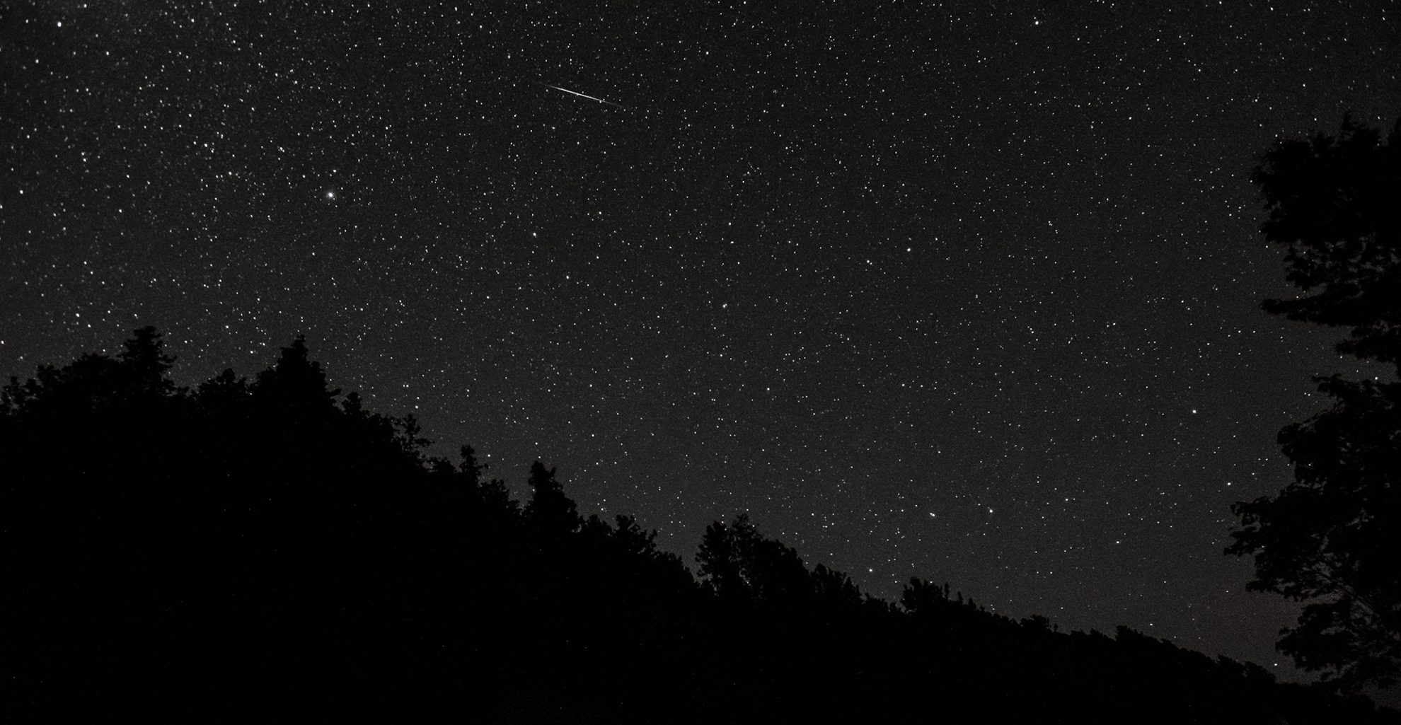 photo of shooting star Mackinac Island